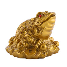 Feng Shui Toad Money LUCKY Fortune Wealth Chinese Golden Toad Coin Home Office Decoration Tabletop Ornaments Lucky Gifts genuine fengshui pear wood carvings cattle fortune bullish money cow ornaments lucky defends transport rosewood gifts