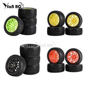 Ruedas y neumáticos para Buggy RC 1/10 de 4 Uds., 12mm, hexagonales para coche todoterreno HPI HSP 94107 94166 94106, neumáticos para nieve y desierto de campo traviesa