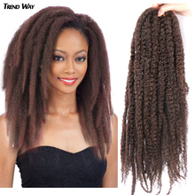 20Inch Synthetic Afro Puff Marley Braids Hair Long Crochet Kinky Curly Hair Wonder Lady Hair Extensions Blonde Grey Red Summer cheap TREND WAY High Temperature Fiber CN(Origin) 16strands pack Pure Color Gray Red Purple Marley Braiding Hair 20Inch Synthetic Soft Kinky Twist Hair