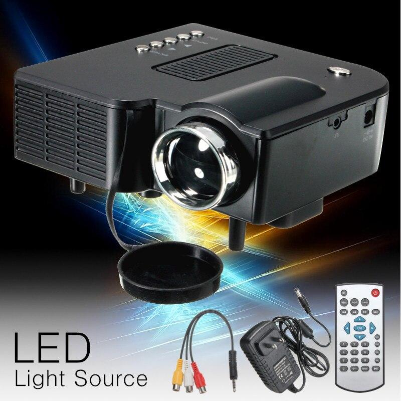 UNIC UC28 + mini projecteur LED Portable 1080P Full HD projecteur Home cinéma projecteurs Audio lecteur multimédia VGA/USB/SD/AV entrée