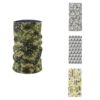 Women Ring Scarf Summer Cotton Blend Neck Gaiter Camouflage Pattern Layered Design Headscarf Magic Sports Cycling Mask Kerchief sweet rhinestoned letter s pattern design triangle ring for women