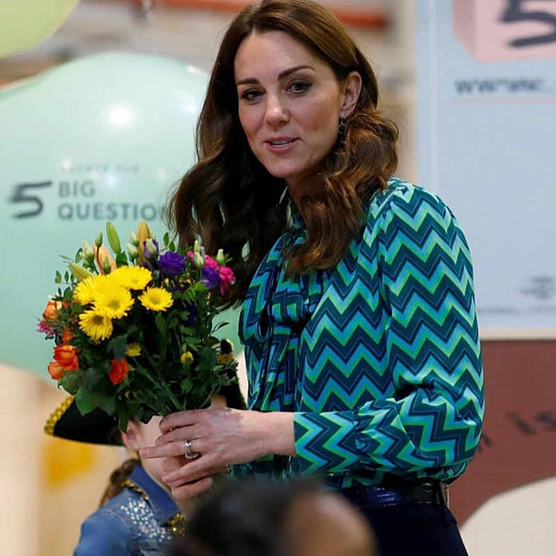 Kate Middleton Lente Nieuwe Fashion Party Casual Streep Lint Lange Mouwen Top Slim Fit Broek Elegante Gentlewoman Dames Sets