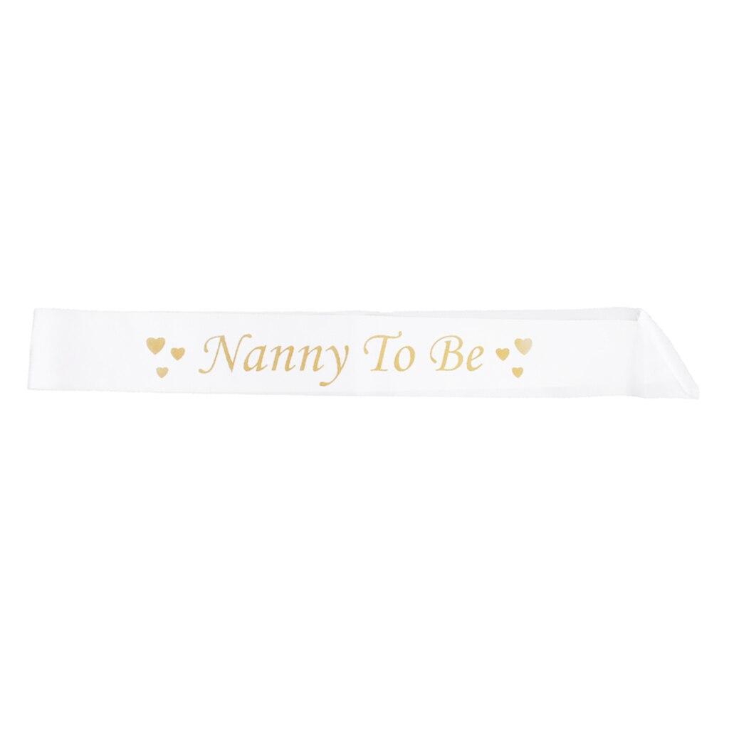 Big Sister Grandma Daddy Sash PINK BABY SHOWER SASHES Mummy to be Nanny Aunty