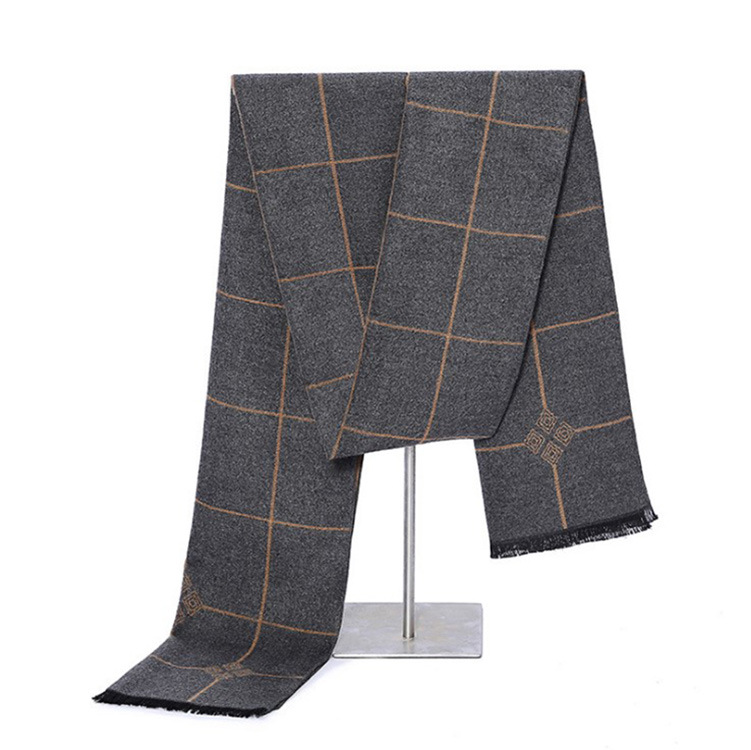 2018 Korean-style MEN'S Scarf Winter Zhen Si La Rong Scarf Young Men's Warm Plaid Scarf Customizable