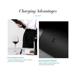 Image 5 - Flesopener Huohou Automatische Wijn Fles Kit Elektrische Kurkentrekker Wijn Opener Bar Gereedschap Fles Geopend Dropshipping