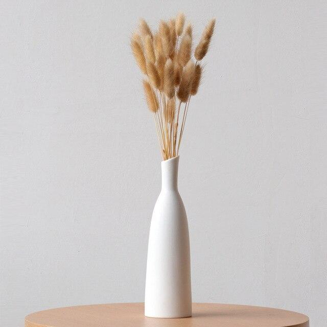 White ceramic vase living room decoration home decor flower container modern wedding centerpiece Table Top Vase for Floral H22cm 1