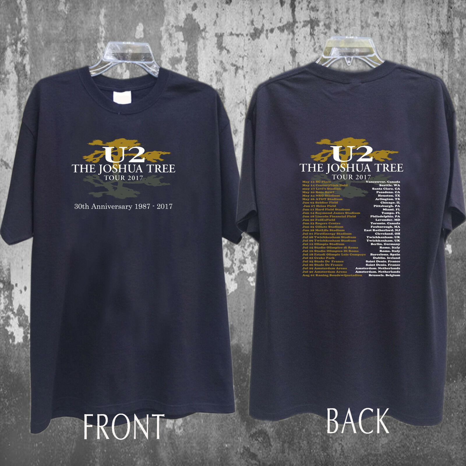 Мужская черная футболка U2 The joшуа дерева 2017, Двусторонняя Футболка унисекс 2019