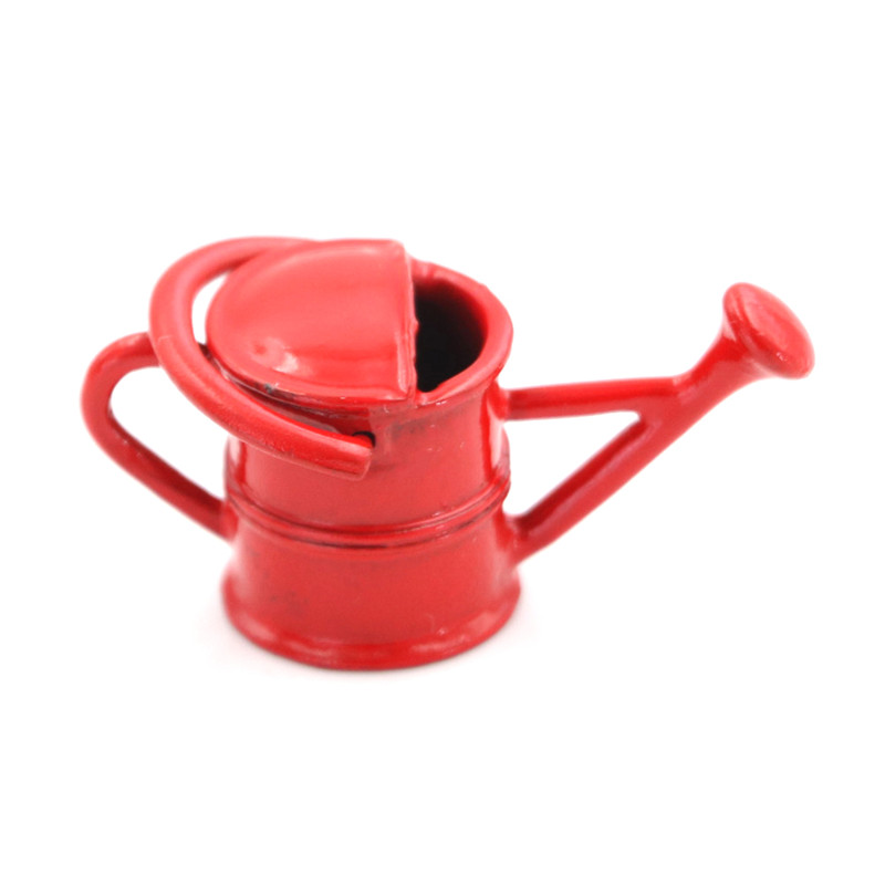 DOLLHOUSE Garden Miniatures 1:12 Miniature Quality Aged Metal Watering Can