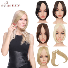 S-noilite Middle Part Hair Bangs Clip On Bangs Hairpieces Sy