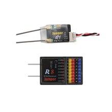 Jumper r1 receptor rc r8 fpv receptor de rádio sbus opentx sistema t16 frsky d16 d8 modo controle remoto px4 controle de vôo