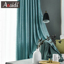 AOSIDI Shining Stars Home Decor Modern Curtains For Living Room Bedroom Window Thick Curtains For Children's Room Shading 85%(China)