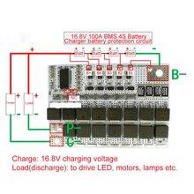 4S 100A BMS 16.8V 18650 Li-ion Li-batterie POLYMÈRE Au Lithium POLYMÈRE LiMnO Carte de Protection de Batterie BMS 4S Circuit De Charge Équilibreur de Module