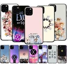 Чехол iPhone 12 Мини SE 2020 11 Pro 5 5s 6, 6s, 7, 8 plus X XR XS MAX силиконовый чехол для телефона из мягкого ТПУ с рисунком чехол EXO группа k-pop kpop