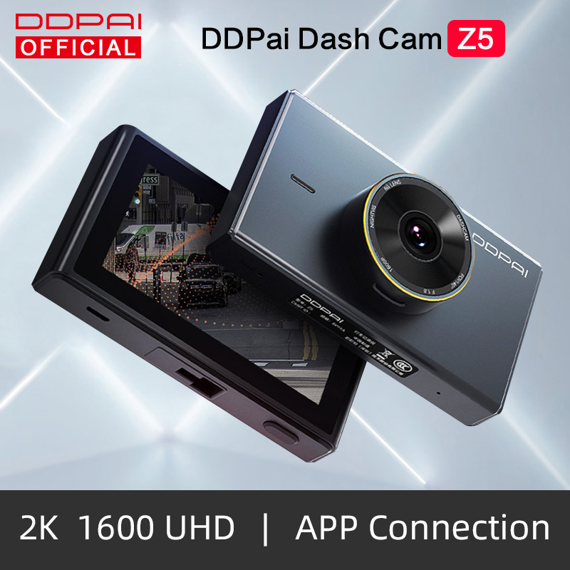 DDPai Dash Cam Mola Z5 Car DVR Camera 1600P HD Touch Screen ADAS Drive Android Wifi