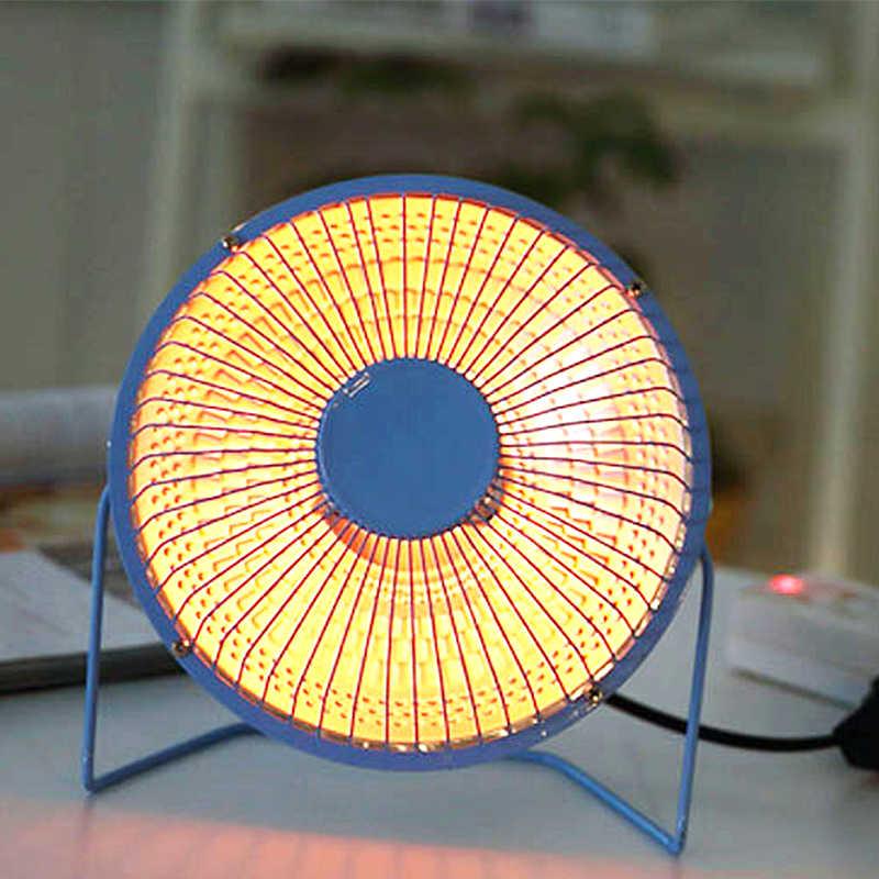 4 นิ้ว 6 นิ้ว 220V แบบพกพาพัดลมอุ่นบ้านเครื่องทำความร้อนอินฟราเรดเดสก์ท็อปสำหรับฤดูหนาวห้องน้ำในครัวเรือน