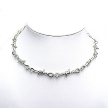 Wire Brambles Necklace Man and Women Hip-hop Punk Barbed Wire Brambles Link Chain Choker