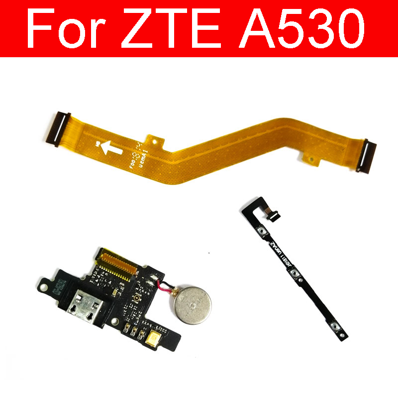 On / Off Power & Down / Up Volume Flex Cable For ZTE A530 A606 Mainboard USB Charger Charging Board Flex Ribbon Repair Parts