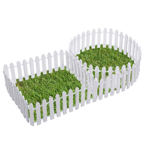 Image 3 - מיניאטורי עץ גידור Decors DIY פיות גן מיקרו בית בובות שערי התפאורה קישוט לבן/קפה צבעים 100*5cm/100*3cm