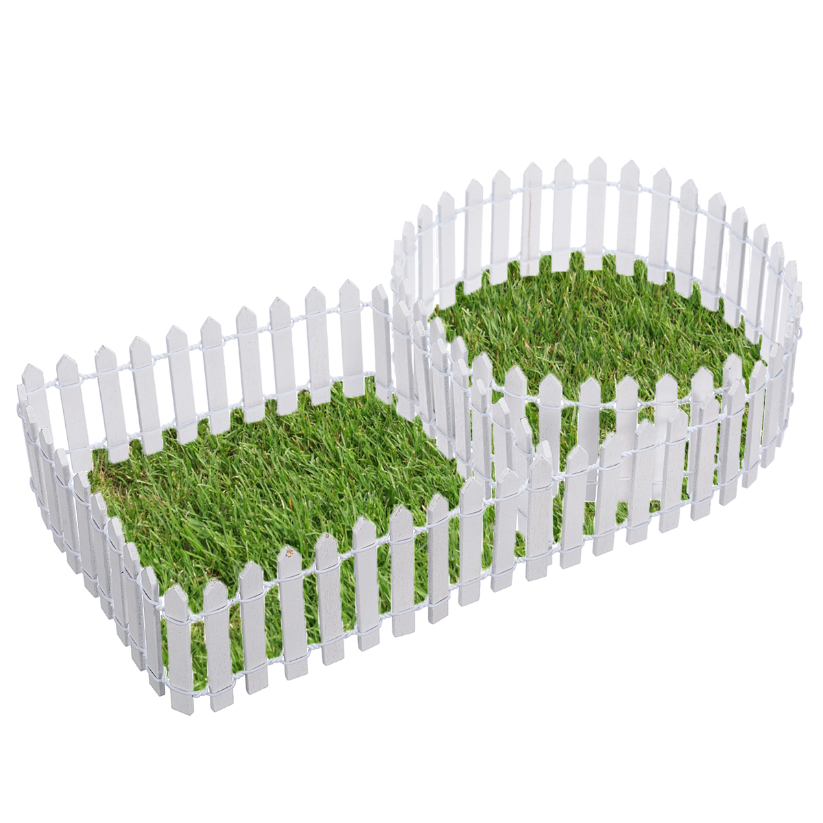 Image 3 - Miniature Wood Fencing DIY Fairy Garden Micro Dollhouse Gates Decor Ornament White/Coffee Colors 100*5cm/100*3cm-in Fencing, Trellis & Gates from Home & Garden