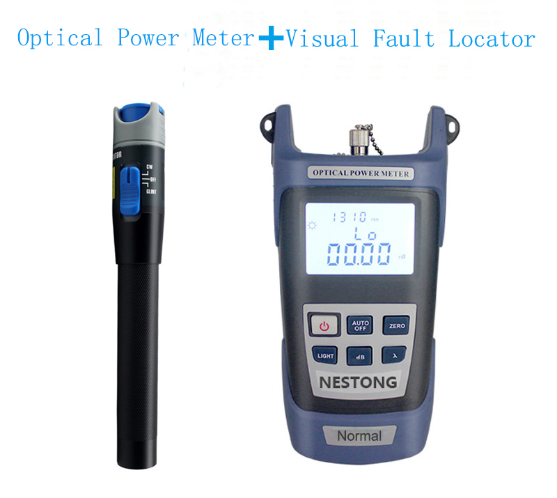 2 In 1 FTTH Fiber Optic Tool Optical Power Meter -70 To +3dBm And 10km 10mW Visual Fault Locator Fiber Optic Test Pen