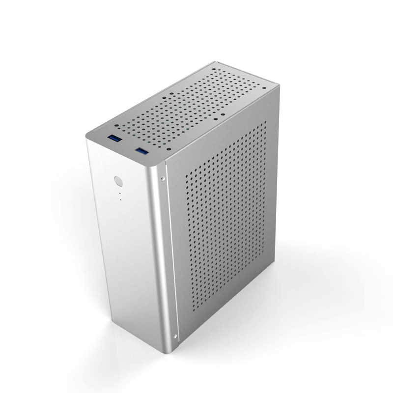 PC Mini ITX Sicher Schrank Computer Gamer Fall Turm HTPC Fall Desktop-Gaming-Alle-aluminium Dünne Chassis Unterstützt GPU messer Karte