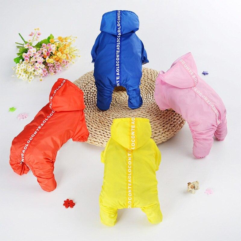 Cute Waterproof Dog Raincoat Dogs Rain Jacket Safety Rainwear Dog Clothes Jumpsuits Poncho Clothes Small Medium Large Pet Dogs