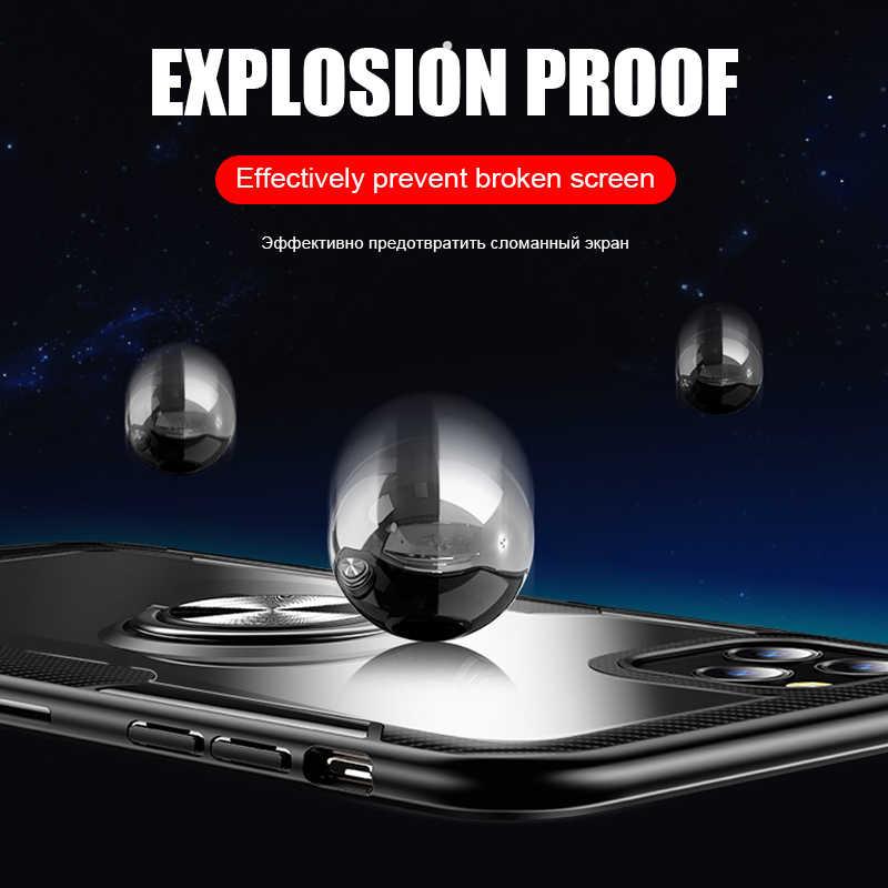 Luxe Auto Houder Ring Case Voor IPhone XR X XS 11 Pro Max Telefoon Case Cover Voor IPhone 7 8 6 6s Plus Zachte Siliconen Bumper Case