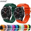 Ремешок силиконовый для Samsung Galaxy Watch 3/46 мм/42 мм/Active 2/Gear S3 Frontier/S2, браслет для Huawei watch GT/2/2E, 20 мм/22 мм