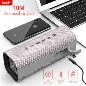 HAVIT Portable Bluetooth haut-parleur extérieur Subwoofer 3D stéréo haut-parleur sans fil avec Microphone barre de son AUX M16