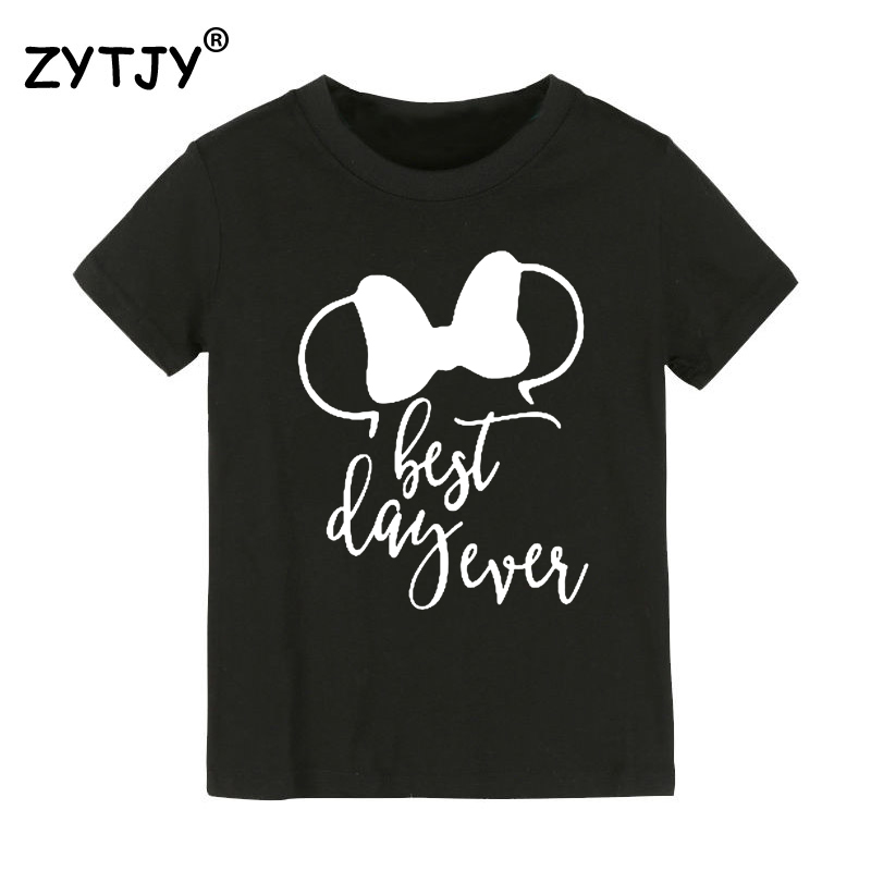 best day ever Print Kids tshirt Boy Girl t shirt For Children Toddler Clothes Funny Tumblr Top Tees Drop Ship CZ-69 image