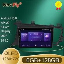 NaviFly Neue 6GB + 128GB DSP QLED 1280*720 Android 10,0 Auto-Multimedia-Player Navigation GPS Für KIA K5 Optima 3 TF 2010 - 2015
