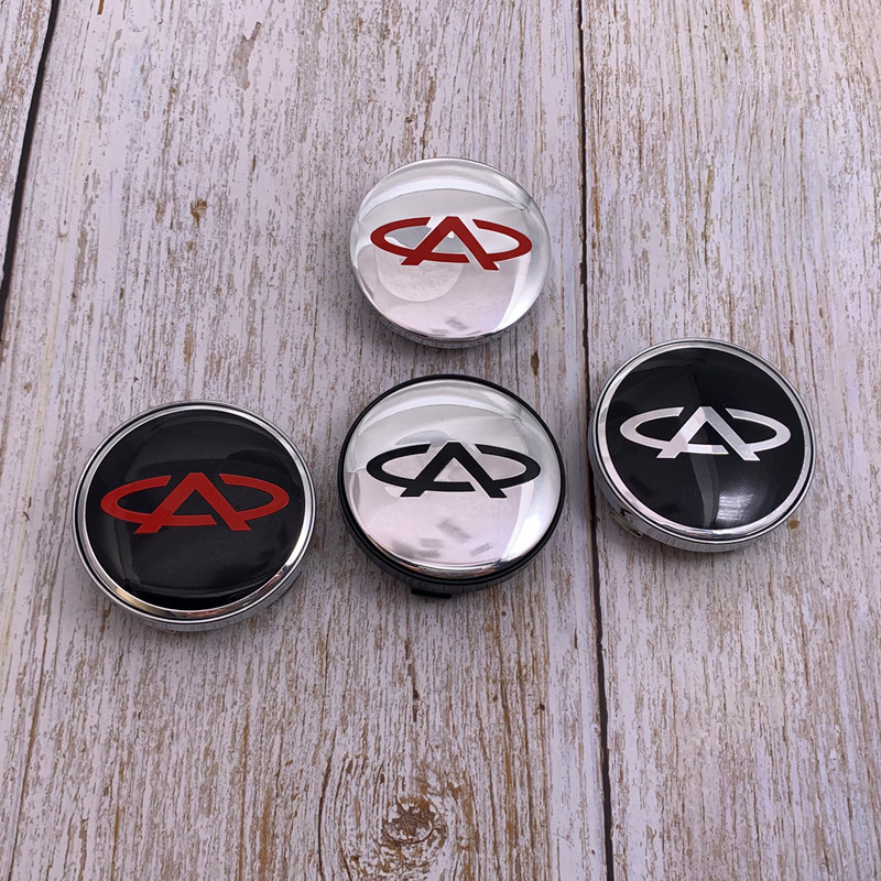 4 pçs 56mm ou 60mm chery logotipo do carro emblema roda centro hub tampa aro reequipamento criativo emblema cobre decoração adesivo acessórios