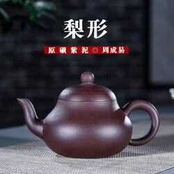 Gruszka w kształcie ciemnoczerwony emaliowane ceramiki czajniczek pełna instrukcja obsługi zrobić Yixing lokalne surowe z rudy fioletowy tusz do nadruku pieczęci znani