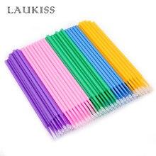 500pcs/lot Micro Brushes Make Up Eyelash Extension Disposable Eye Lash Glue Cleaning Brushes Free Applicator Sticks Makeup Tools