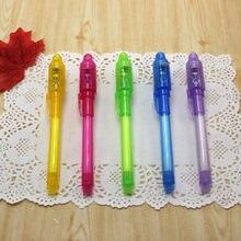 1 pçs luz combo criativo papelaria invisível tinta caneta popular material escolar presentes do estudante papelaria escolar
