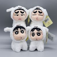 Japan Anime Crayon Shin chan Plush Toy Little White Dog Style 10cm Peluche Pendant Handbags Decor Girls Gift Hobbies Collection