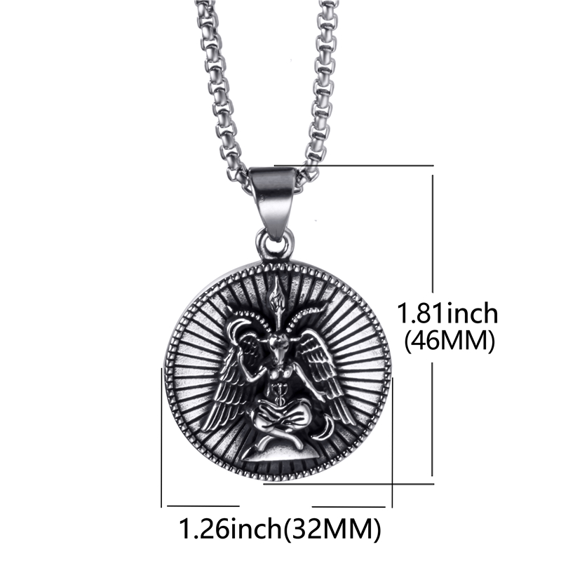 Baphomet with Lucifer Back Pendant