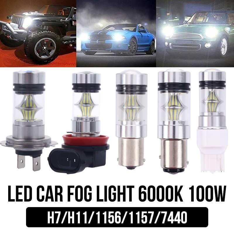 1x H11 H7 светодиодный 1156 1157 7440 лампы 100W Противотуманные фары нет ошибок для BMW E71 X6 м E70 X5 E83 F25 X3 2004
