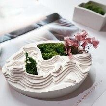 Creative Rockery Flower Pot Concrete Mold Silicone Concrete Cement