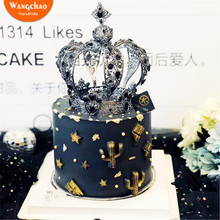 Высокое качество Принцесса Корона торт Топпер романтический свадебный торт украшения Топпер для торта «С Днем Рождения» вечерние принадлежности