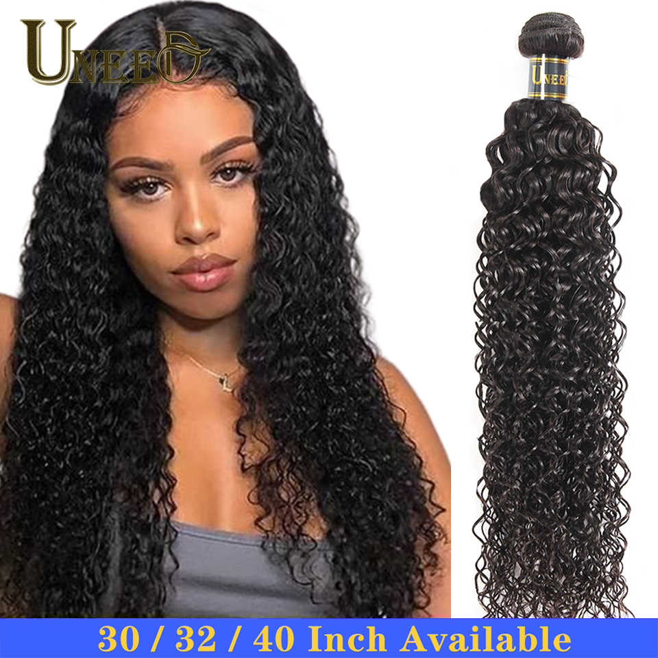 30 32 40 Malaysian Water Wave Hair Bundles 100%Human Hair Weaving 1/3/4 Bundle Deals Remy Hair Extension Natural Color For Woman