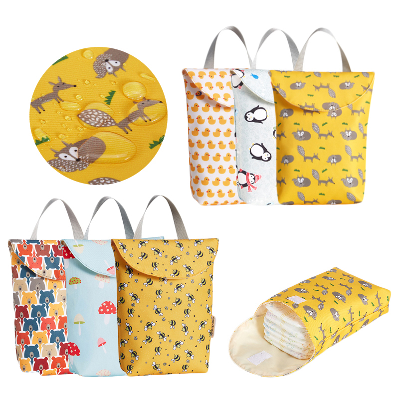 Hot Sale Multifunctional Baby Diaper Bags Reusable Fashion Waterproof Diaper Organizer Portable Big Capacity Mummy Bag