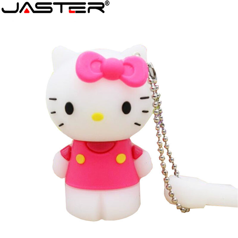 JASTER Hello Kitty Usb Flash Drive Cute Pendrive 64gb 32gb Pen Drive 4gb 8g 16gb Cartoon U Disk Flash Card Hot Sale Memory Stick