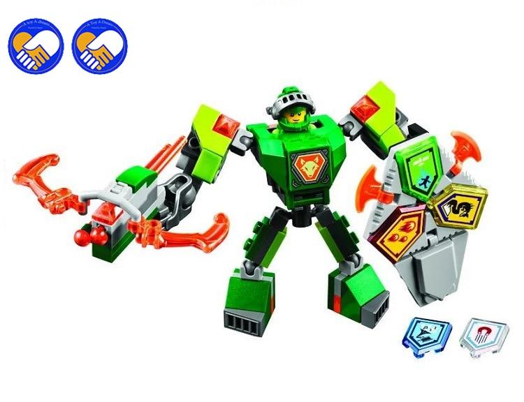 A Toy A Dream BELA 10587 Legoinglys Nexus Knights Building Blocks Set Macy Aaron AXL Lance Clay Battle Suit Kids Bricks Toys