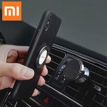Original xiao mi mi conjunto titular do telefone do carro do telefone móvel anel stents suporte de navegação sucção magnética stents rotação 360 graus