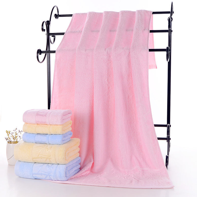 Bamboo Fabric BABY'S Bath Towel Women's Adult Suit Three-piece Set Water-Absorbing Children Face Towel Towel