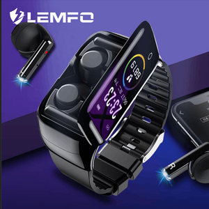 LEMFO M7S Smart Watch Bluetooth 5.0 With TWS Bluetooth Earphone Heart Rate Blood Pressure Monitor Smart Wristband Watch Men(China)