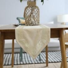 Luksusowy stół do jadalni, lub szalik Dresser, prostokątny stół do biegania i Nakpin, na wesele stół dekoracyjny, beżowy