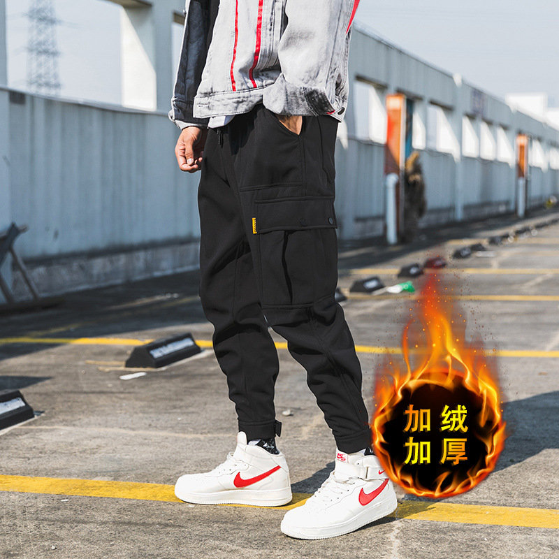 Yi Dao Vintage Men's Loose-Fit Velcro Ankle Banded Pants Summer Popular Brand Japanese-style Multi-pockets Bib Overall Casual Pa