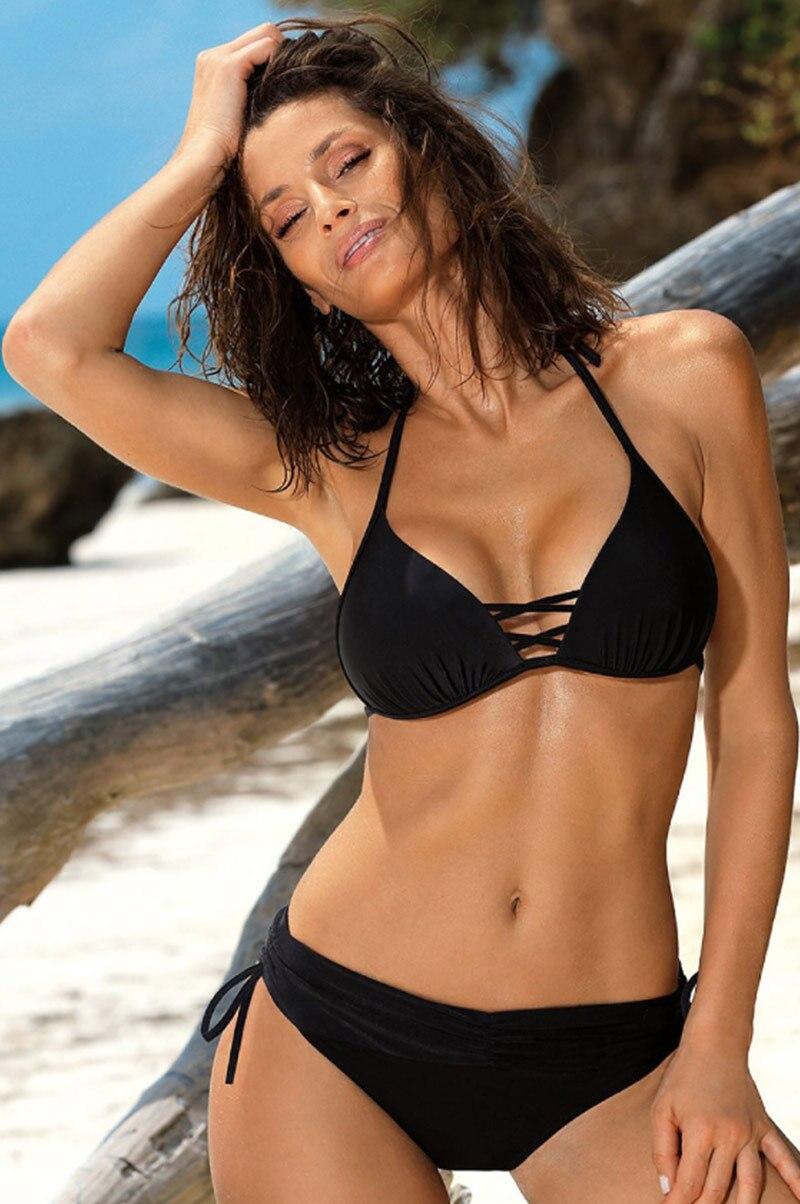 H0e81062304194dac9b1107718caf81cac Miyouj Sexy Leopard Bikini Push Up Deep V Swimsuit Female Hollow Out Bathing Suit Women Snake Skin Print Biquini Halter Bikinis